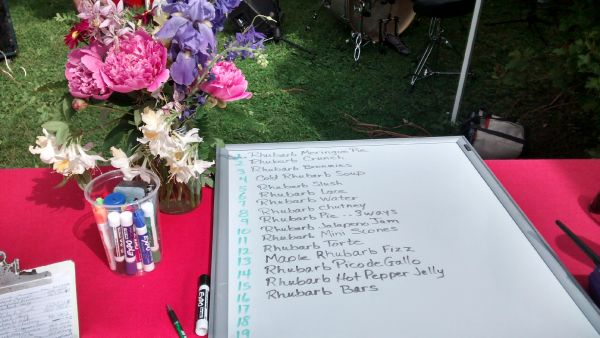 Recipe list on table with flowers